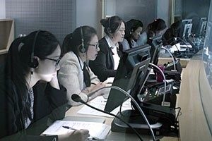 Interpreters at work at the United Nations